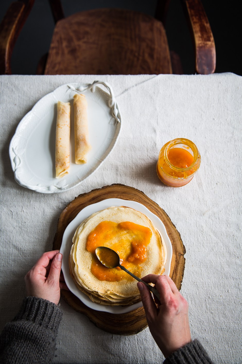 my grandmother's Hungarian crêpes from the Taste of Memories country kitchen www.tasteofmemories.com