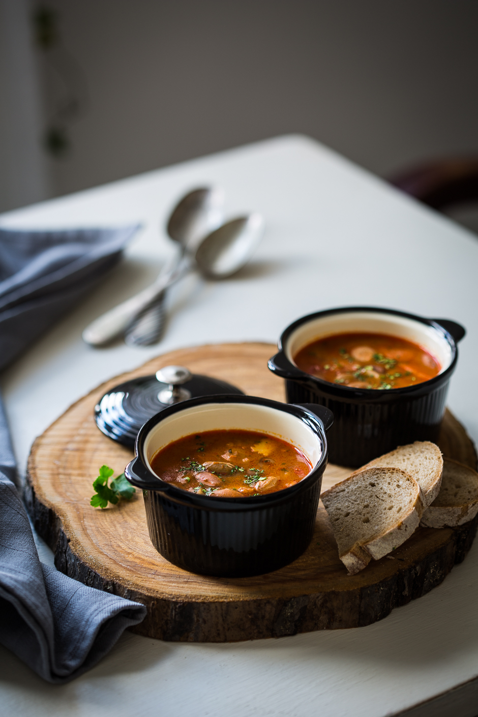 Hungarian bean soup from the Taste of Memories country kitchen www.tasteofmemories.com