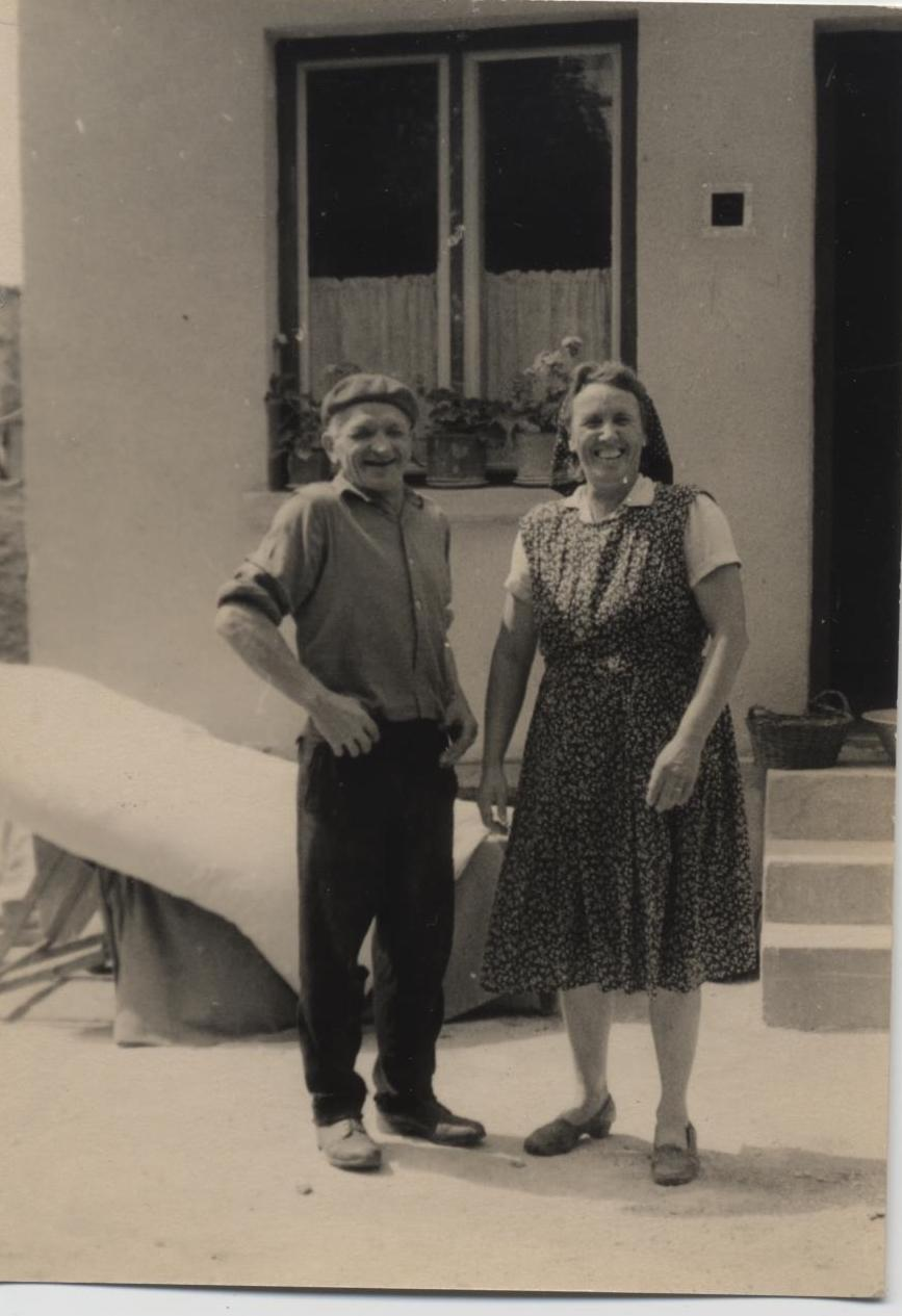 Aunt Rose, my mother's sister and her husband Uncle Joseph who built our house at the beginning of the last century